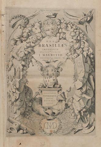 BARLAEUS, CASPAR. 1584-1648. Rerum per Octennium in Brasilia et alibi nuper gestarum.... Amsterdam: Joannis Blaeu, 1647.