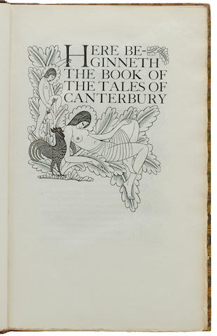 [GOLDEN COCKEREL PRESS.] CHAUCER, GEOFFREY. 1340?-1400. The Canterbury Tales. Waltham Saint Lawrence in Berkshire: the Golden Cockerel Press, 1929-1931.