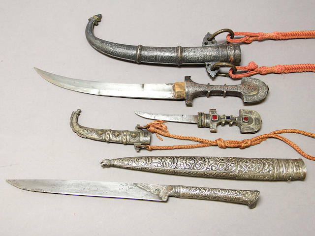 A lot of three eastern daggers