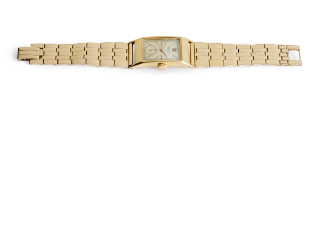 Patek Philippe. A fine 18K gold wristwatch with contemporary 14K gold braceletCase no. 631145, Movement no. 836088, circa 1945