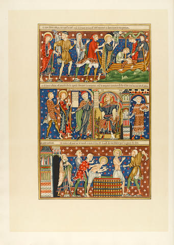 ILLUMINATED MANUSCRIPTS—ROXBURGHE CLUB. JAMES, MONTAGUE RHODES. The Trinity College Apocalypse. A Reproduction in Facsimile of the Manuscript R.16.2 in the Library of Trinity College, Cambridge. Printed for the Roxburghe Club, 1909.