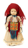 A Lenci felt girl doll in traditional Turkish costume