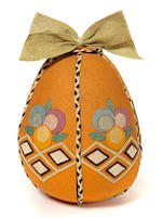 A rare Lenci felt girl doll contained in original Easter egg trouseau