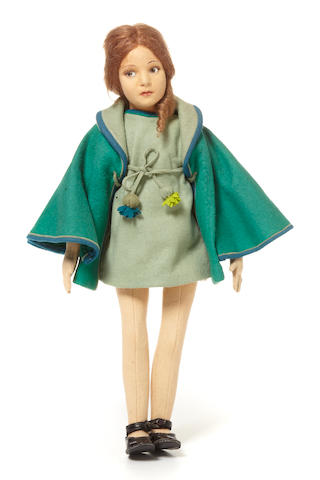 An extremely rare Lenci felt pre-teen girl doll