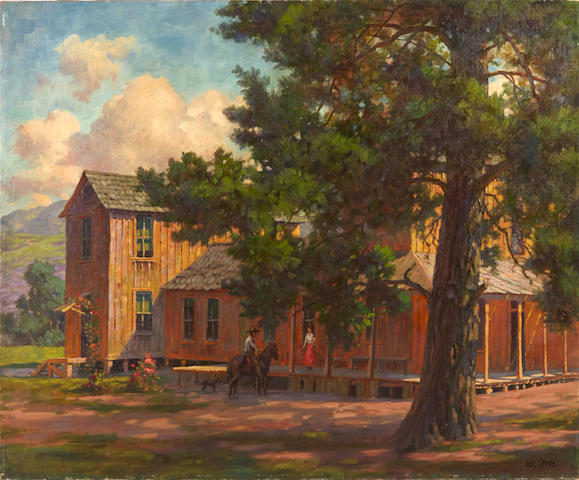 Paul A. Grimm (American, 1891-1974) Country Home 25 x 30in