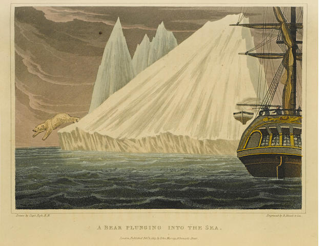 ROSS, JOHN. 1777-1856. A Voyage of Discovery, Made under the Orders of the Admiralty, in His Majesty's Ships Isabella and Alexander, for the Purpose of Exploring Baffin's Bay, and Inquiring into the Probability of a North-West Passage. London: John Murray, 1819.