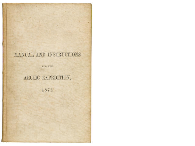 ARCTIC COMMITTEE. JONES, T. RUPERT, editor. Manual of the Natural History, Geology, and Physics of Greenland and the Neighboring Regions; prepared for the Use of the Arctic Expedition of 1875, under the Direction of the Arctic Committee of the Royal Society ... With Instructions ... for the Use of the Expedition. London: printed for Her Majesty's Stationery Office, 1875.