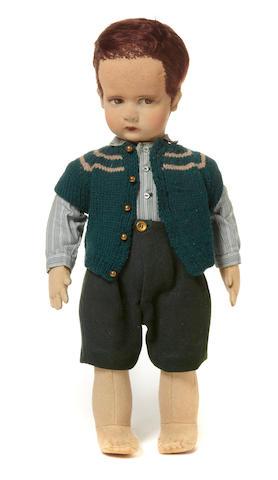 A Lenci felt boy doll