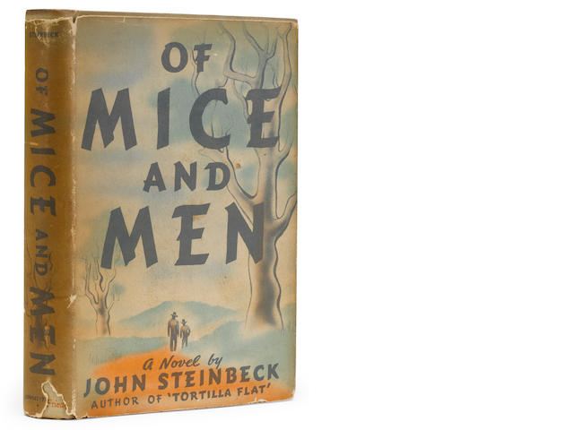 STEINBECK, JOHN. 1902-1968. Of Mice and Men. New York: Covici Friede, [1937].