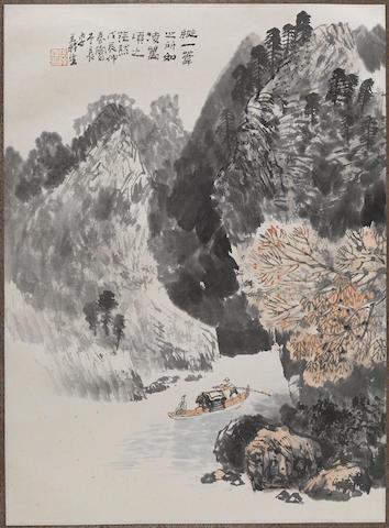Xu Yisheng (b. 1943) Four Landscapes