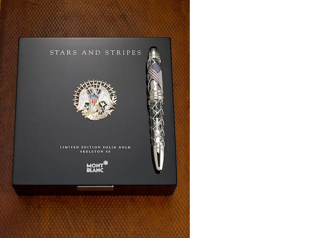 MONTBLANC: Stars and Stripes Limited Edition 50 Skeleton Fountain Pen