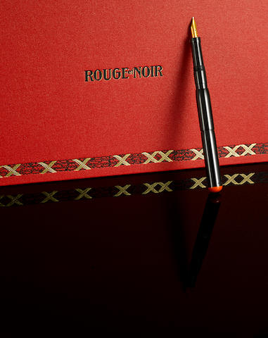 MONTBLANC: Rouge et Noir Limited Edition 100 Anniversary Fountain Pen