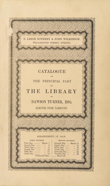 [TURNER, DAWSON. 1775-1858.]
