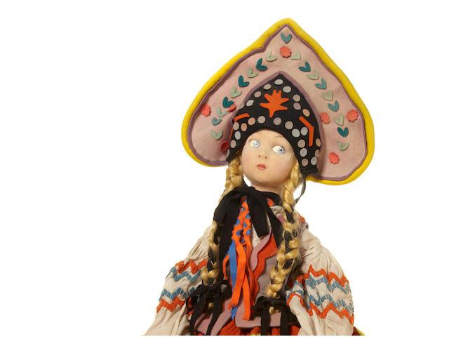 A Lenci felt long-limbed Russian dancer doll