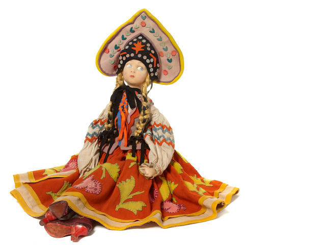 A Lenci felt long-limbed Russian dancer doll