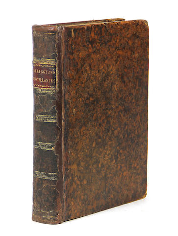 BARRINGTON, DAINES. 1727-1800. Miscellanies. London: J. Nichols, 1781.