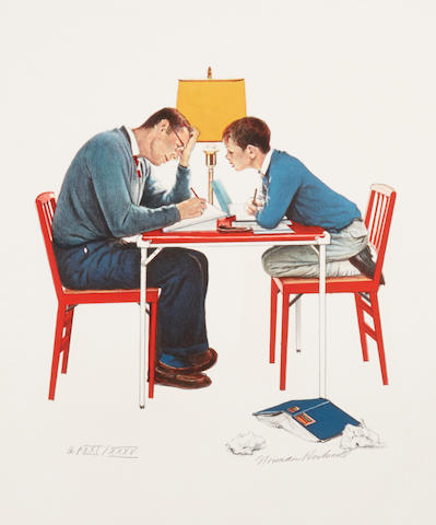 Norman Rockwell (American, 1894-1978); School Days portfolio of (4) prints;