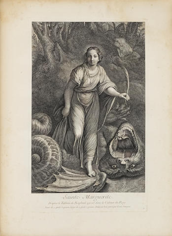 CROZAT, Joseph Antoine, Marquis de Tugny. Recueil d'Estampes d'après les plus beaux tableaux... qui sont en France. Basan: 1763. Volume 1 only.