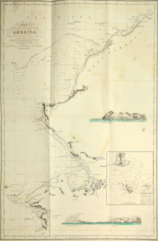 BEECHEY, FREDERICK WILLIAM. 1796-1856. Narrative of a Voyage to the Pacific and Beering's Strait, to Co-Operate with the Polar Expeditions: Performed in His Majesty's Ship Blossom.... Philadelphia: Carey & Lea, 1832.<BR />