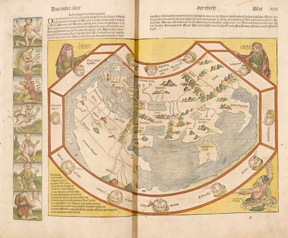 SCHEDEL, HARTMANN. 1440-1514. Das Buch der Croniken und Geschichten. Nuremberg: Anton Koberger, December 23, 1493.