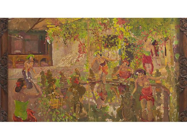 Adrien Jean Le Mayeur de Merprés (1880-1958)  The Lotus Pond, c. 1950-1955