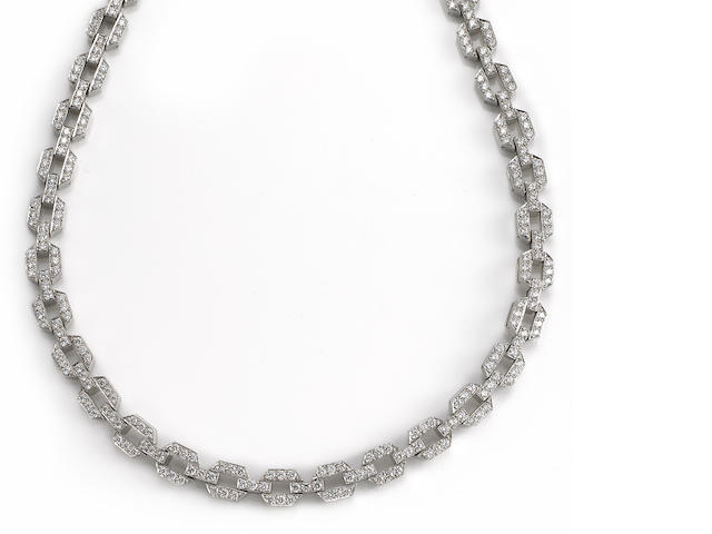 A diamond link necklace, Tiffany & Co.