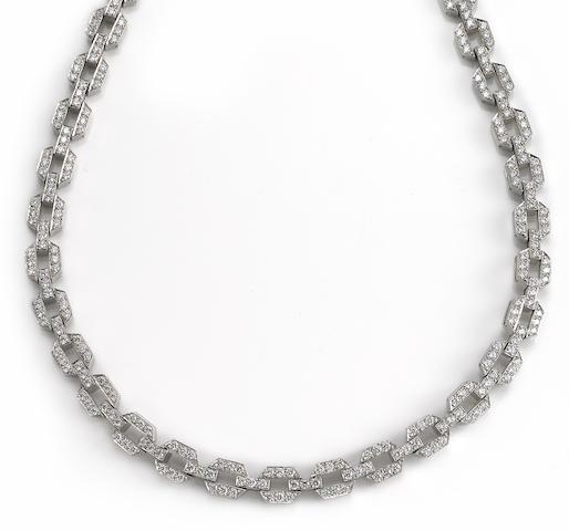 A diamond link necklace, Tiffany & Co.