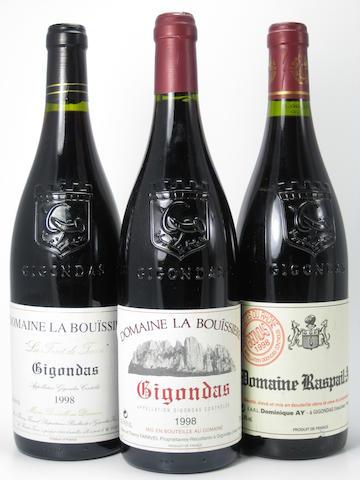 Gigondas 1997 (4)<BR />Gigondas 1998 (8)<BR />Gigondas 1998 (5)<BR />Bandol 1998 (1)<BR />Gigondas 1999 (4)<BR />Côtes du Rhône, Brézème 1999 (2)