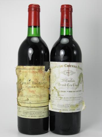 Château Trotanoy 1982 (1)<BR />Château Cheval Blanc 1983 (3)