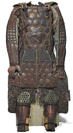 A set of kusari gusoku (chain mail armor) and kabuto (helmet) Late Edo period