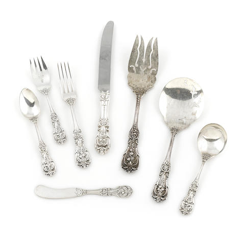 An American sterling silver part flatware service by Reed & Barton, Taunton, MA mid-20th century