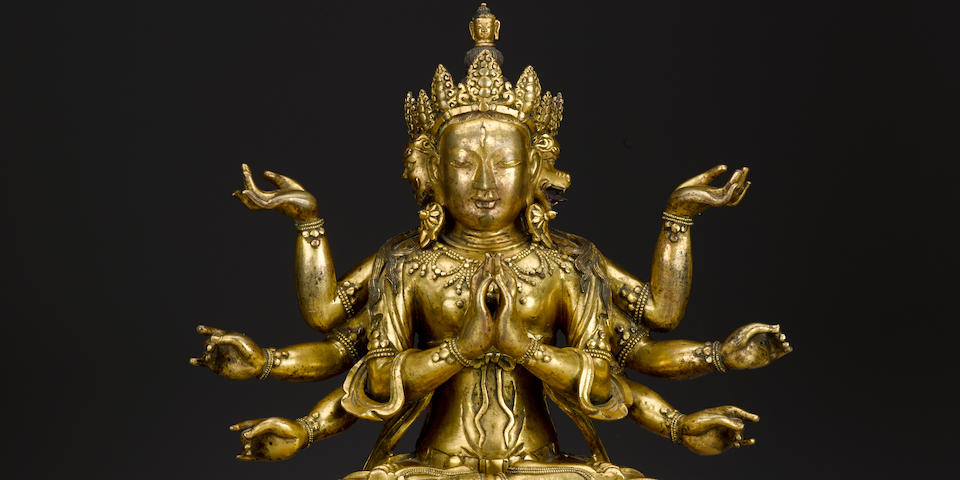 A gilt copper alloy figure of Marichi Qing dynasty, 18th century