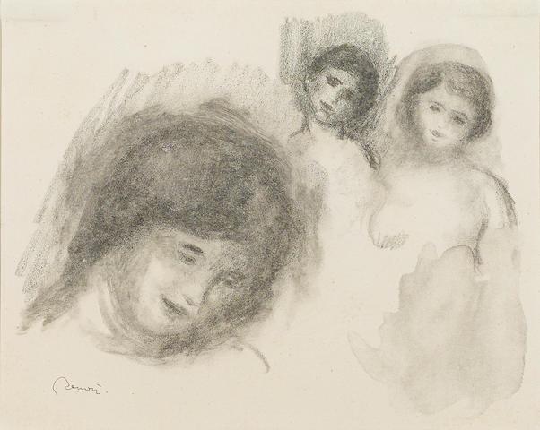 Pierre-Auguste Renoir (French, 1841-1919); La Pierre au trios croquis, from Douze Lithographies Originales de Pierre-Auguste Renoir;