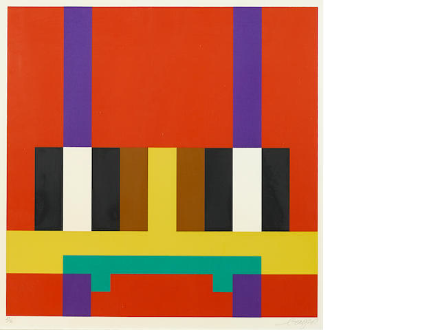 Herbert Bayer, Color Bars, 29/85, silkscreen