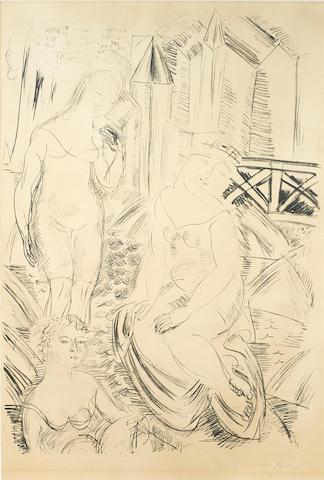 Raoul Dufy, Trois Baigneuses, 9/50, lithograph