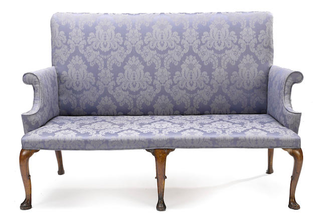 A late George II /early George III mahogany settee mid 18th century
