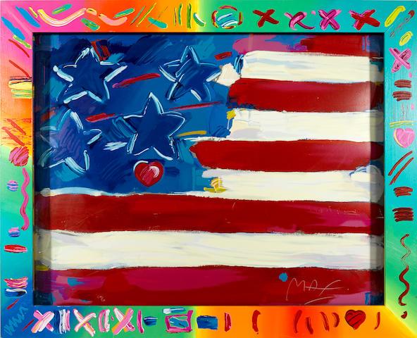 Peter Max (German/American, born 1937); Deluxe Flag;