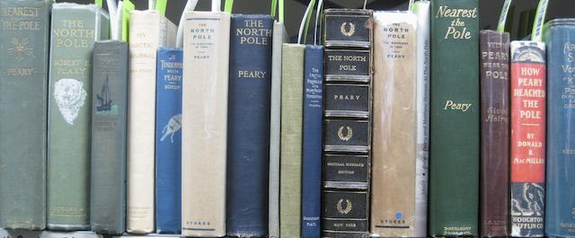 PEARY, ROBERT. 1856-1920. 30 volumes on Arctic exploration, written by or concerning Robert Peary.