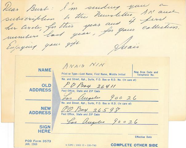 BRITTON, BURT. The correspondence between Burt Britton and his friends and associates in the literary world, circa 1970-95,