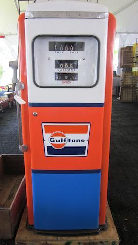 A Tolkheim Gulf branded gas pump, c.1950s,
