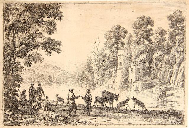 Claude Lorrain (French, 1600-1682); La danse au bord de l'eau;