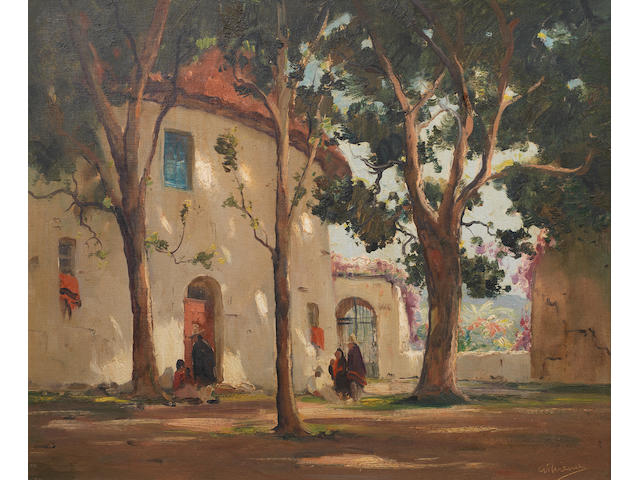Anthony Thieme (American, 1888-1954) Cuernavaca, Mexico 20 x 24in