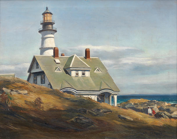 Andrew Winter (American, 1893-1958) Portland Head Light 22 x 28in