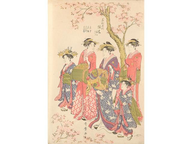 Kitagawa Utamaro (1753-1806)<BR />One woodblock print