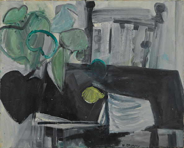 William Theophilus Brown (American, 1919-2012) Untitled (Still life with lemon) 24 1/8 x 29 7/8in
