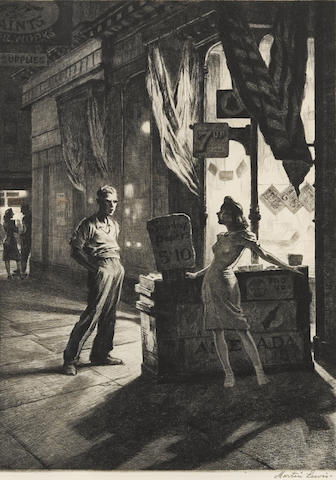 Martin Lewis (1881-1962); Chance Meeting;