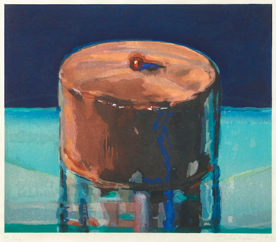 Wayne Thiebaud (born 1920); Dark Cake;