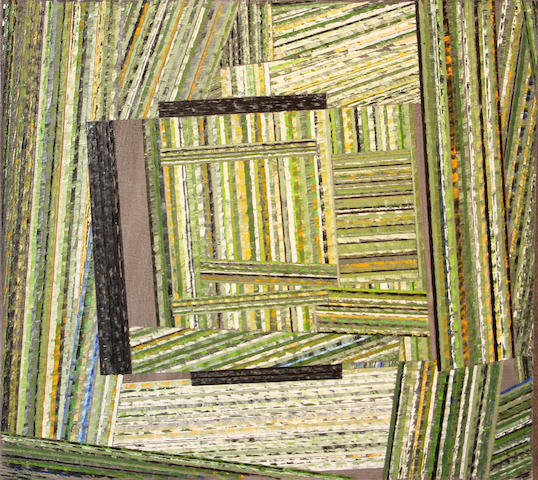 Lucio Pozzi (Italian/American, born 1935) Crossover Park, 1996 42 x 42in unframed