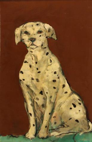 Ira Yeager (American, born 1938) Dalmatian  36 x 24in