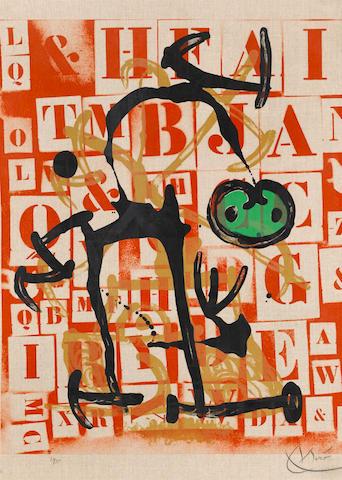 Joan Miró (1893-1983); Le Lettré - vert;
